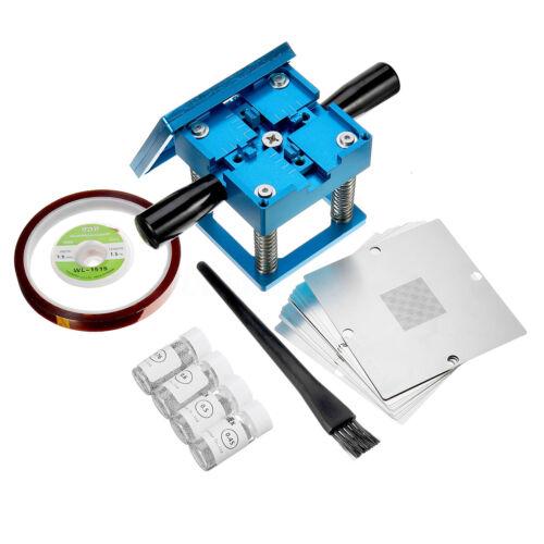 Solder Balls Kits Pro Reballing Station 10x Universal Steel Templates Stencils