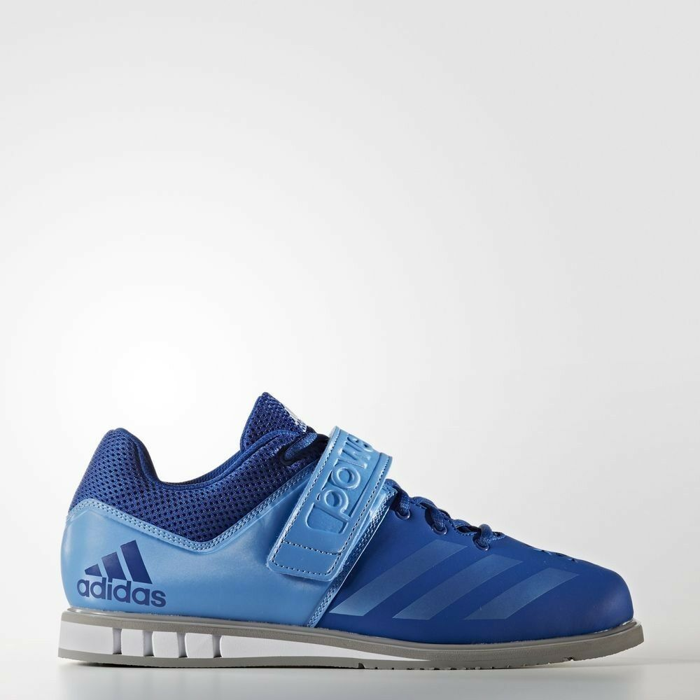 New Adidas Men's Powerlift 3 Weightlifting Shoes Size 12 Royal Blue Grey