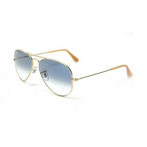 Rb3025 Aviator Sunglasses Gold Frame Crystal Gradient Bl : NIB Ray Ban Aviator Sunglasses RB 3025 001/3F 58mm Crystal ...