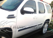 """2007- 2009.5 Chevy Tahoe 4Pc Body Side Molding Trim Overlay 3 1/2"""" Wide"""