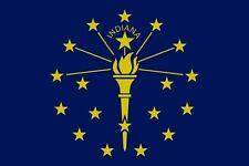 USA Flagge Fahne Indiana 90 x 150 cm, US State Flag, Country Saloon Garten Deko