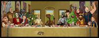 Funny Da Vinci spoof art T Shirt Men's 6 sizes 8 colours 80s goonies ET robocop