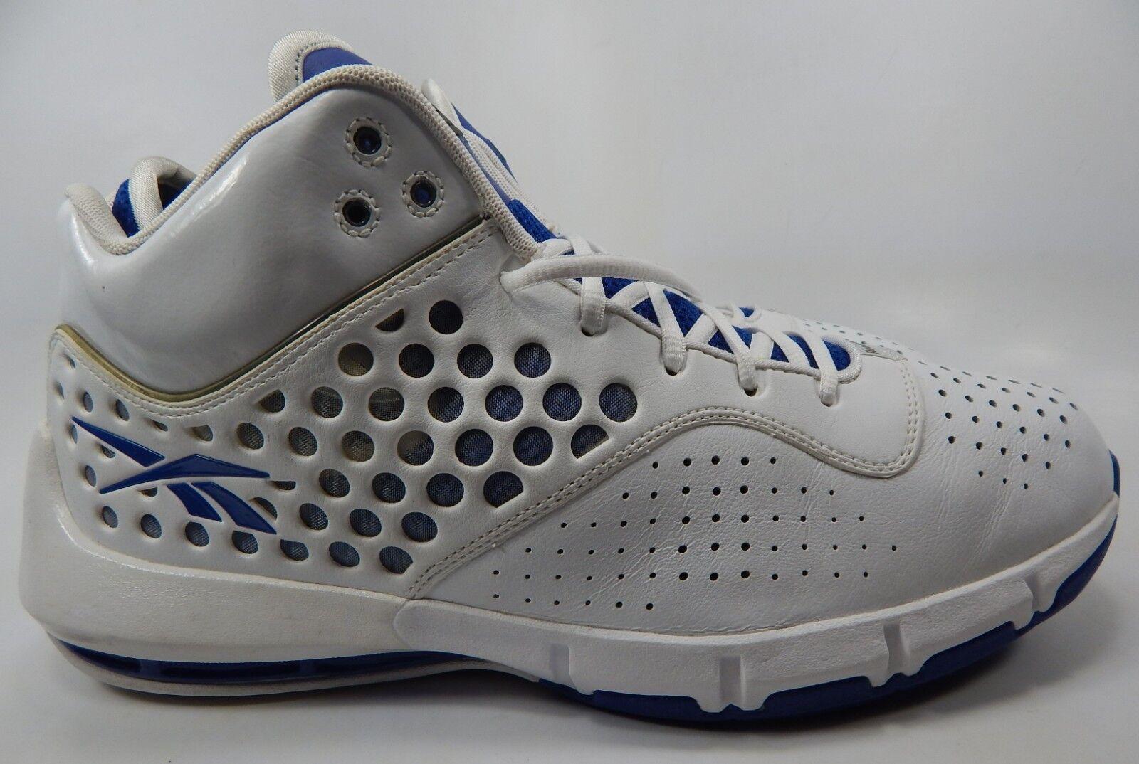 Reebok Men's Basketball shoes Size US 12.5 M (D) White bluee 4-381638