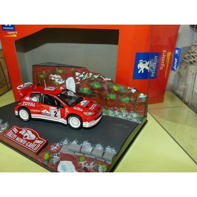 PEUGEOT 206 WRC RALLYE MONTE CARLO 2003 NOREV 1 43 AVEC PUB défaut