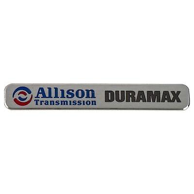 White Black 2Pcs Duramax Allison Transmission Badges 3D Hood Letter Emblem Nameplate Compatible for Gm Silverado 2500 HD 3500HD Sierra