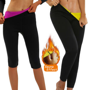 58f82f082d3b9 Women Thermo Sweat Body Shaper Sauna Pants Hot Neoprene Slimming ...
