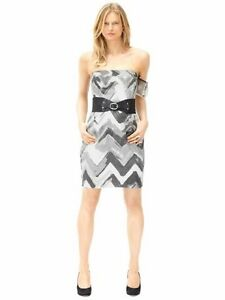 5139c8e965 Details about BANANA REPUBLIC WOMEN S 100% LINEN STRAPLESS COCKTAIL DRESS  NWT 10
