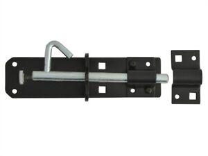 Padlock-Bolt-Black-Powder-Coated-150mm-6in-General-Hardware-FGEPBLTBLK6