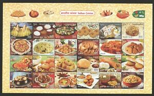 INDIA-2017-INDIAN-CUISINE-SOUVENIR-SHEET-OF-24-STAMPS-MINT-MNH-UNUSED-CONDITION