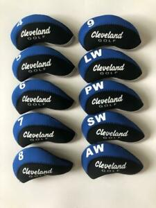 10PCS-Golf-Club-Head-Covers-for-Cleveland-Iron-Covers-4-LW-Blue-amp-Black-Universal