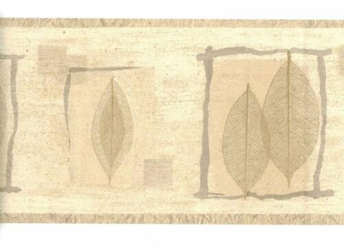 Rustic Pressed Brown Leaves with Gray Twig Frame Contemporary ...