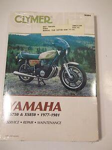 YAMAHA XS750 XS850 CLYMER SERVICE REPAIR MAINTENANCE 700404 1977-1981 kg