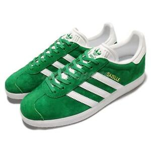 save off a7a6c 8a4e5 Image is loading adidas-Originals-Gazelle-Green-White-Nubuck-Men-Classic-