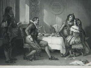 Gravur Kunstblatt The Victim, Graviert Von S.Sangster Eines Gemälde A. L. Egg.