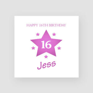 Personalised Handmade 16th Birthday Card For Her Daughter Granddaughter Friend