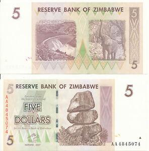 Zimbabwe-Zimbabwe-093-5-dollars-2007-UNC-Pick-66