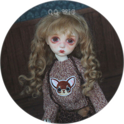 QQ-35B BJD Doll Synthetic Mohair Wig Dark Brown Color 1//12;1//6;1//8;1//4;1//3 sizes
