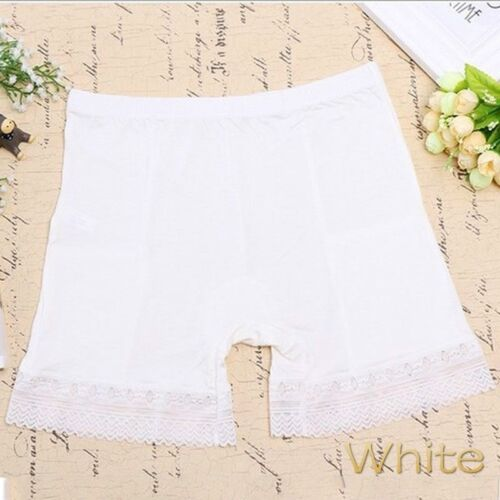 Ladies Modal Long Leg Briefs Pockets Underwear Pettipants Knickers Nude Black