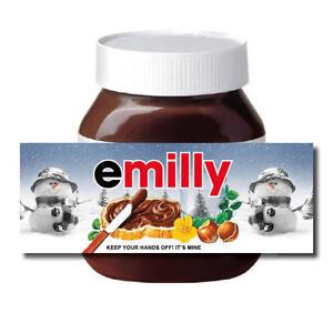 Personalizado De Navidad Santa Secreto Tuerca De Chocolate propagación Etiqueta Muñeco de nieve  </span>