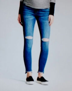 c5148a3213089 Image is loading Isabel-Maternity-Jeans-12-Skinny-Distressed-Cut-Crossover-