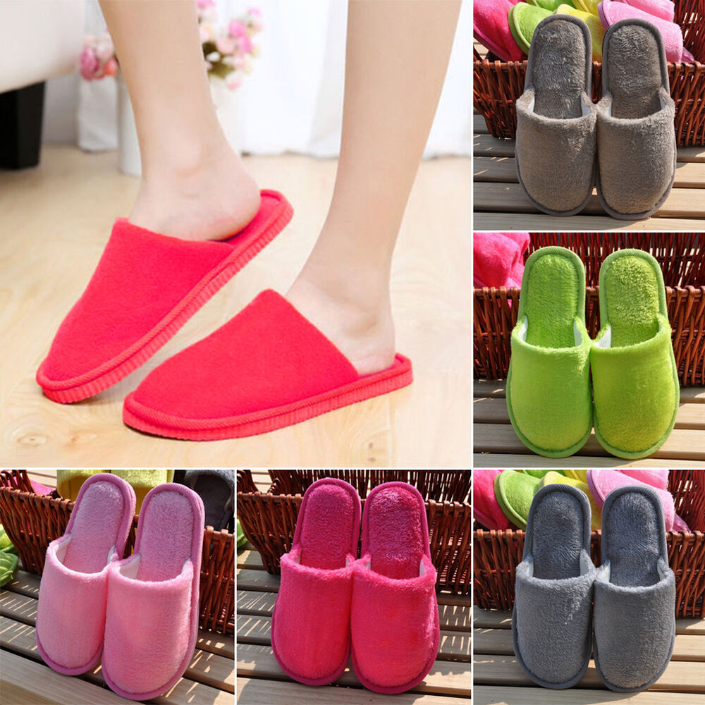 0a0dd42f1555f on sale Women Men Anti-Slip Flat Shoes Soft Winter Warm Cotton House Indoor  Slippers