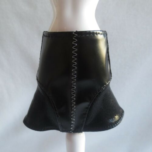 NEW Barbie Fashionista Doll Black Faux Leather Skirt ~ Clothing