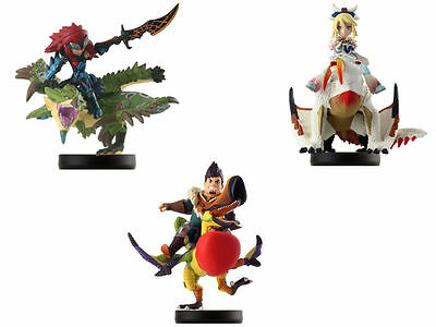 amiibo Monster Hunter Stories x3 Barioth Ayuria Rathia Dan Cheval SET JAPAN F/S