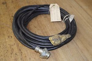 LARKSPUR-AUDIO-EXTENSION-CABLE-6-pin-male-and-female-plugs-30Ft-NOS