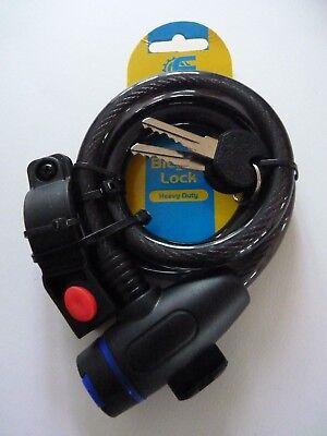 Bike Lock Bicycle Lock Heavy Duty With 2 Keys Quality Bike Lock Black