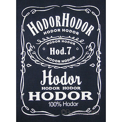 HODOR HODOR STARK GAME OF THRONES Inspired T Shirt Tee Top Mens Funny