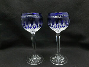 Waterford-Cristal-Clarendon-Bleu-Coupe-pour-Transparent-2-Vin-Hocks-19-7cm