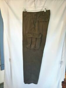 Vintage Para Hombre Abercrombie Fitch Oliva Cargo Pantalones De Color Caqui 34r Ebay