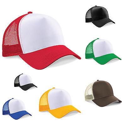 Half Mesh Trucker Hat Sun Baseball Cap Retro Summer 8 Colours
