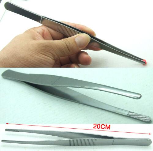 "2PCS 200mm 8/"" jeweler Tweezers Clip repair tools for Feeding Maintenance plating"