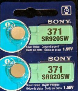 2 Pack Sony 371 Silver Oxide Battery AG6 SR69 SR92 V371 D371 SR920SW LR921 L920