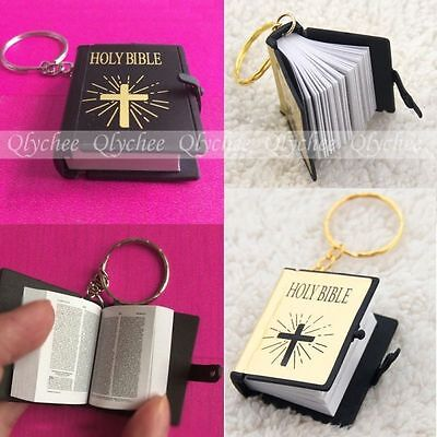 Mini Bible Keychain English HOLY BIBLE Religious Christian Jesus Free Shipping
