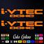 "2 x i-VTEC DOHC ivtec 9/"" emblem Vinyl Sticker Honda Civic Decal Drift JDM 108"