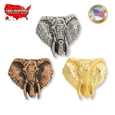 Jewelry A1030MP Brooch Republican Elephant Pewter Mini Lapel Pin