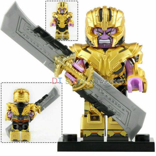 THANOS Minifigure Lego MOC Double Edged Sword lego MOC Character Marvel Toy Kid