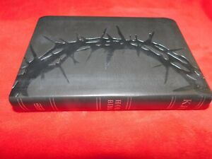 KJV Holy Bible Large Print Black Bonded Leather Cover King James Version NEW!