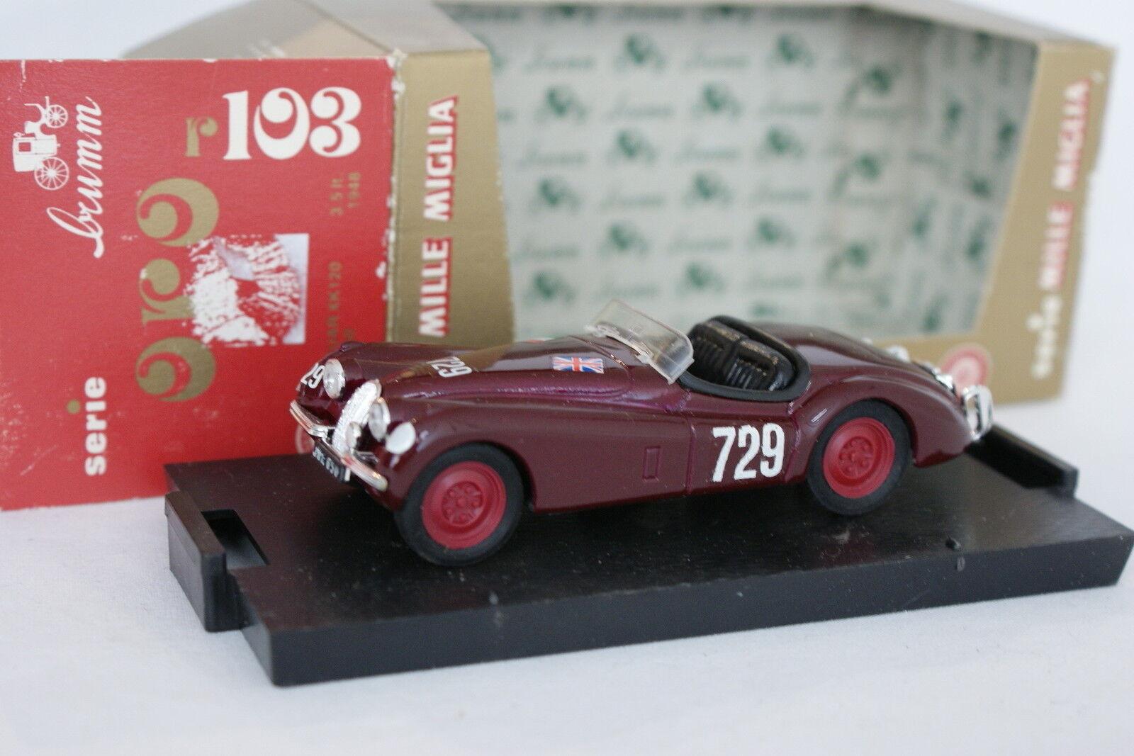 Brumm 1 43 - Jaguar XK 120 Spider Mille Miglia 1950 (old box)