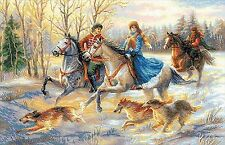 RIOLIS 1639  Russian Hunting  Kit  broderie  Point de Croix  Compté