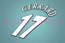 Liverpool Gerrard #17 UEFA Champions League 97-06 White Name/Number Set
