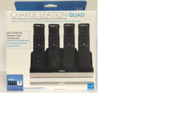 Nyko Charge Station Quad for Wii Black New/Sealed