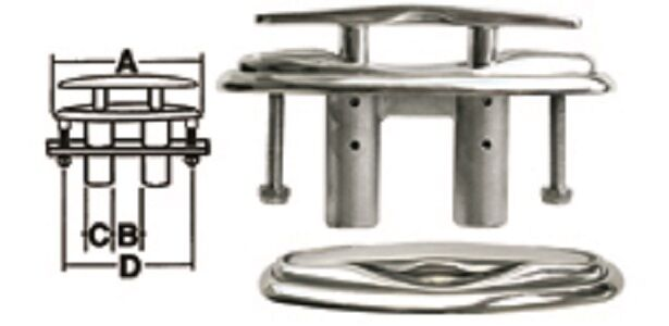 Ajustable Grapa Tojino acero INOX. sumergible INOX AISI 316