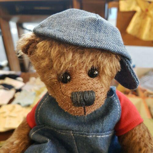 Schildcap für ca 25-30 cm Bären-- HANDARBEIT jeans