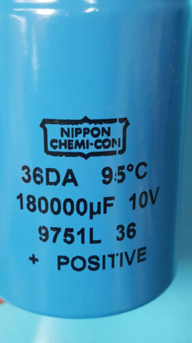 Screw Terminal NIPPON 36DA184F010BB2A 10V 1 PC 180000UF Capacitor Aluminum