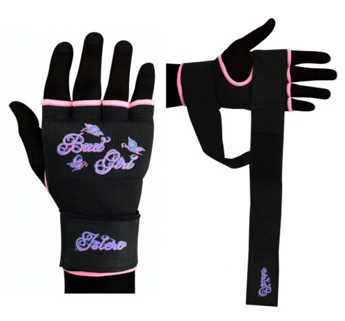 Islero Damen Rosa Gel Handschuhe Mma Kickboxen Muay Thai Kampfsport Handschützer