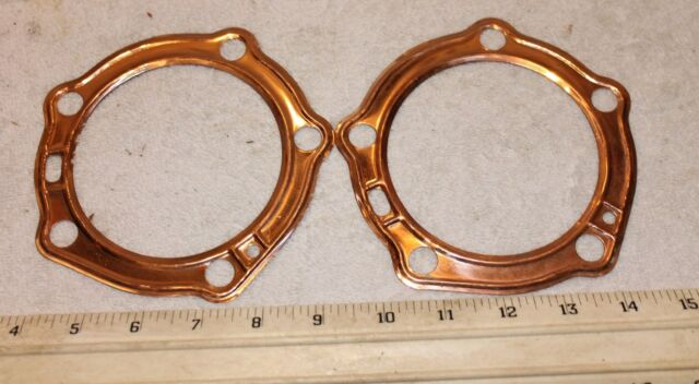 New Copper Head Gaskets Harley Davidson Panhead 1948-1965 One Pair FREE SHIPPING
