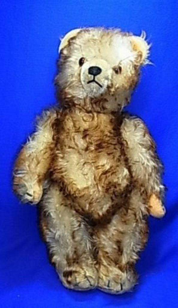 Vintage German Sonneberg Stuffed Animal Animal Animal Teddy Bear with Voice  P 6db2e2